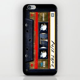 Retro cassette mix tape iPhone Skin