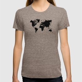 world map 94 black #worldmap #map #world T-shirt