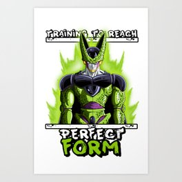 Training to reach pefect form - Cell Art Print