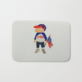 Toddlers Fourth of July Parade Watercolor Painting Bath Mat