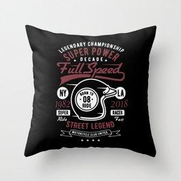 super power fullspeed Throw Pillow