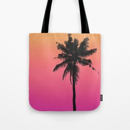 Sunset Gradient Palm Tote Bag