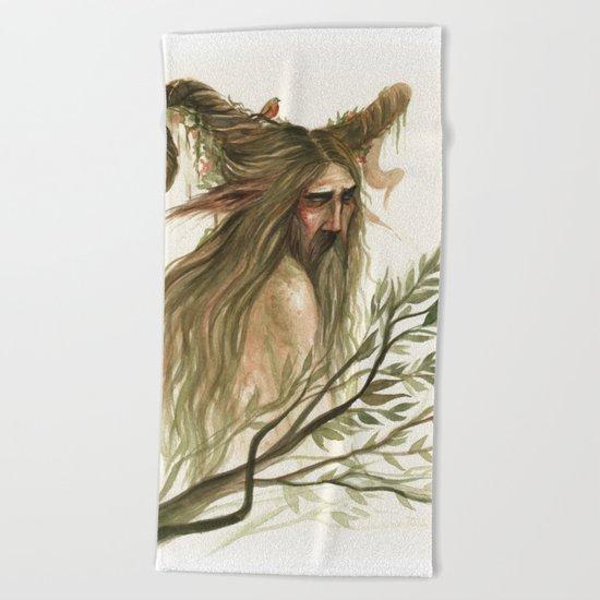 Leshy - woodland spirit Beach Towel