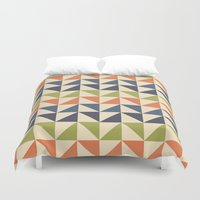 60s Duvet Covers featuring Geometric Pattern // 60s by Jennifer Robert