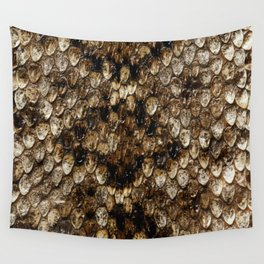 Faux Rattlesnake Skin Design Wall Tapestry