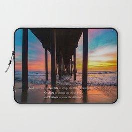 Serenity Prayer - Surf City USA Laptop Sleeve