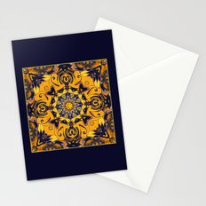 Flame Hearts in Blue and Gold Stationery Cards