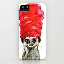 Red Turban iPhone Case