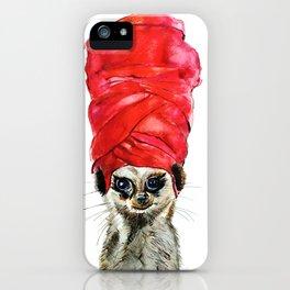 Red Turban iPhone Case