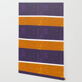 Purple Yellow Ochre Rothko Minimalist Mid Century Abstract Color Field Squares Wallpaper