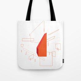 Blueprint #2 (red) Tote Bag