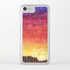Desert Sunset Pattern Clear iPhone Case