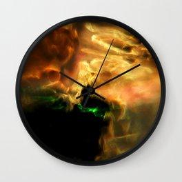 Molten Glow Wall Clock