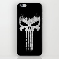 punisher iPhone & iPod Skins featuring The Punisher  by Ricardo A.