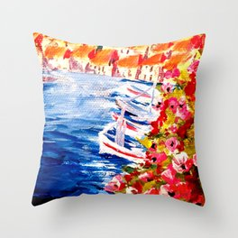 Cassis, France Throw Pillow