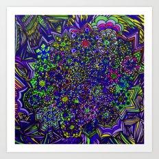Zap Pow Wow Art Print