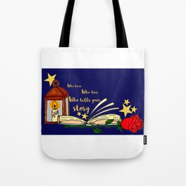 Who Tells Your Story Tote Bag