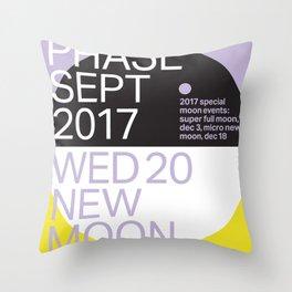 New Moon - Sept 2017 Throw Pillow