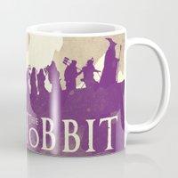 the hobbit Mugs featuring The Hobbit by WatercolorGirlArt
