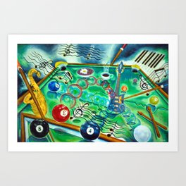 Cue's and Riff's Art Print