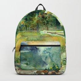 In Solitude I Stroll Backpack