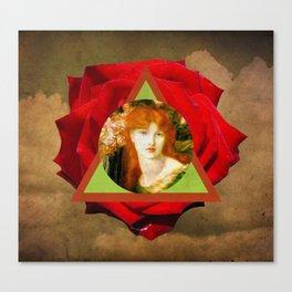 rosa roja Canvas Print