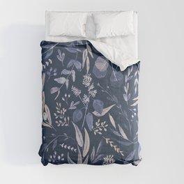 Eucalyptus Pattern - Blue inverted Comforters