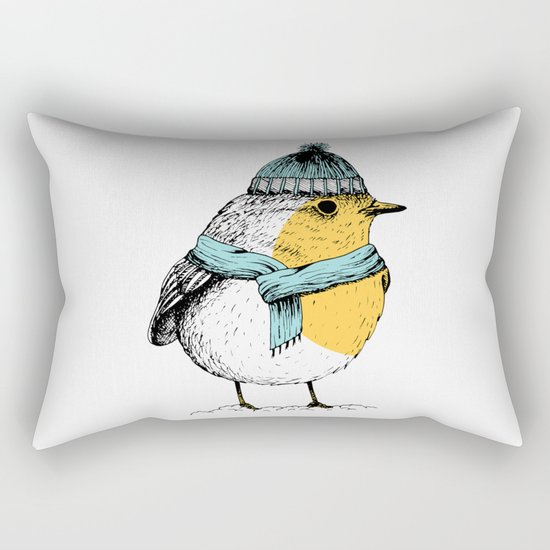 Winter bird Rectangular Pillow