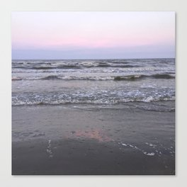 pink as the seafoam Canvas Print