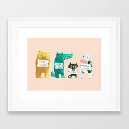 Animal idioms - its a free world Framed Art Print