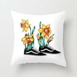 Vans & Narcissus Throw Pillow