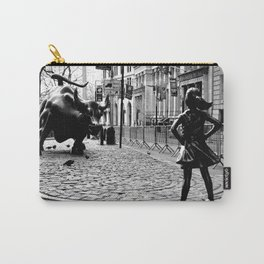 Fearless Girl and the Charging Bull Carry-All Pouch