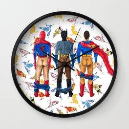 Super Hero BUTTs | It's a bird, it's a plane, it's... a booty Wall Clock