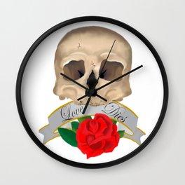 Love Dies Wall Clock