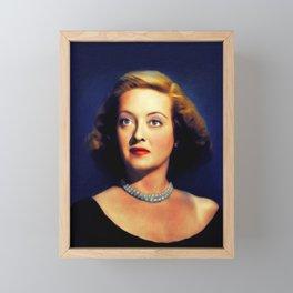 Bette Davis, Actress Framed Mini Art Print