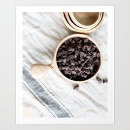 Farmhouse Chocolate Chips Art Print