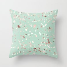 Minty Pink Throw Pillow