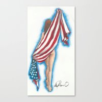 american beauty Canvas Prints featuring American Beauty by Lillith Of The Waters