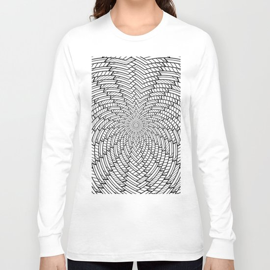 sweeping black and white 3 Long Sleeve T-shirt