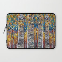 Colourful Autumn Aspen Trees Laptop Sleeve