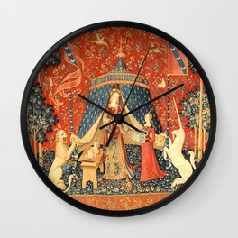 Lady and The Unicorn Medieval Tapestry Wall Clock