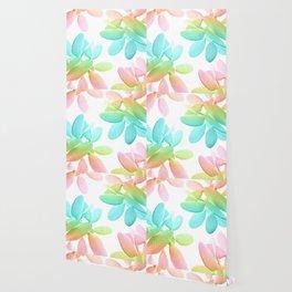 Rainbow Cacti Vibes #1 #pattern #decor #art #society6 Wallpaper