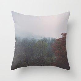 Smoky Mountains in Autumn Throw Pillow