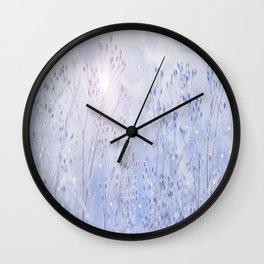 Winter Sparkle On A Sunny Frosty Day #decor #buyart #society6 Wall Clock