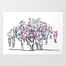 Women's March on Washington Art Print