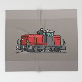 Diesel locomotive Throw Blanket