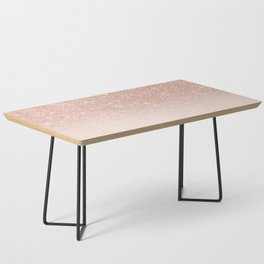Rose Gold Faux Glitter Pink Ombre Color Block Coffee Table
