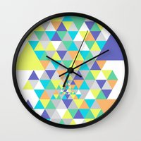 psycho Wall Clocks featuring Psycho by Javier Martinez