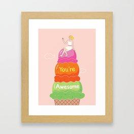 Awesome Ice Cream Framed Art Print