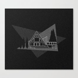 A-frame Cabin Canvas Print